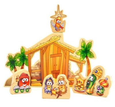 Wooden Nativity Scene   -