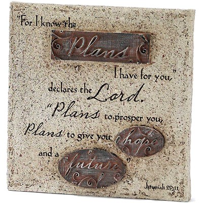 For I Know the Plans I Have For You Tabletop Plaque  -