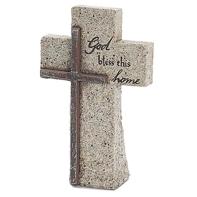 God Bless This Home Tabletop Cross  -