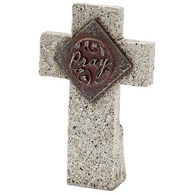 Pray Tabletop Cross  -