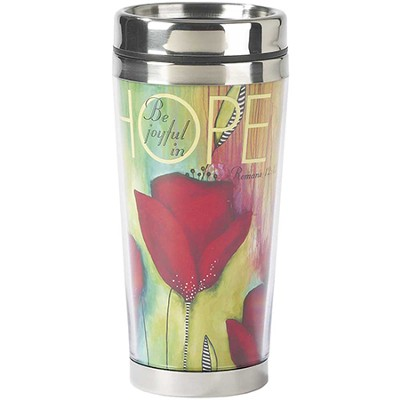 Be Joyful In Hope Travel Mug  -