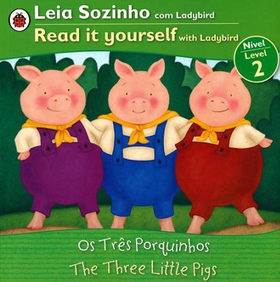 Three Little Pigs, Bilingual: Fairy Tales, Level 2,   Portuguese  -     By: Ladybird