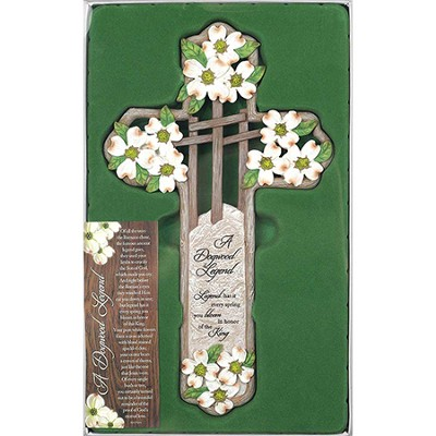 A Dogwood Legend Wall Cross  -