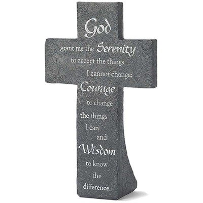 Serenity Prayer Tabletop Cross  -