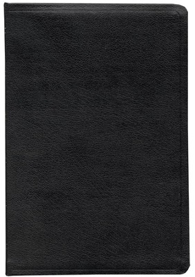 ESV Large Print Bible, Genuine Leather, Black, Black Letter  -