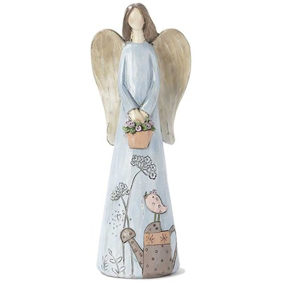Angel with Flower Basket Figure  -