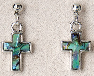 Simple Cross Pierced Earrings  -