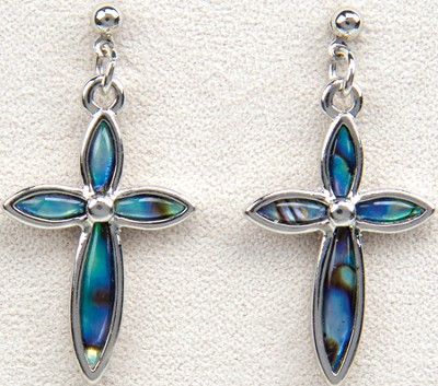 Elegant Cross Pierced Earrings  -