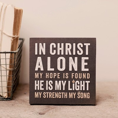 In Christ Alone, Desktop Plaque, Small  -