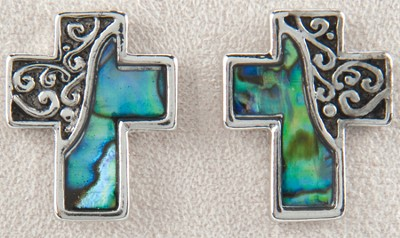 Cross Pierced Earrings  -