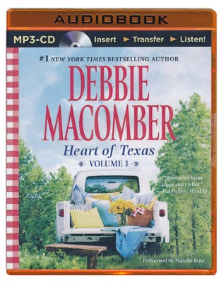 Heart of Texas, Volume 1: Lonesome Cowboy and Texas Two-Step - unabridged audiobook on MP3-CD  -     Narrated By: Natalie Ross     By: Debbie Macomber