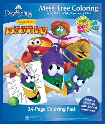 The League of Incredible Vegetables Coloring Pad, VeggieTales  -