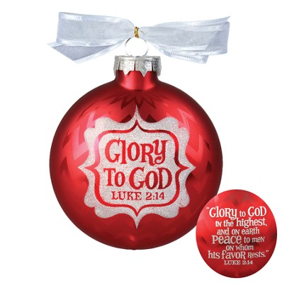 Glory to God Glass Ornament  -