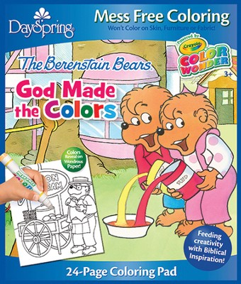 God Made the Colors, Berenstain Bears, Coloring Pad  -