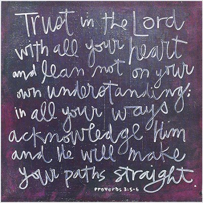 Trust In the Lord Plaque  -     By: Emily McNabb
