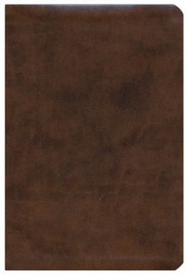 ESV Compact Bible--soft leather look, brown  -