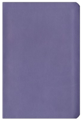 ESV Compact Bible--soft leather look, lilac   -