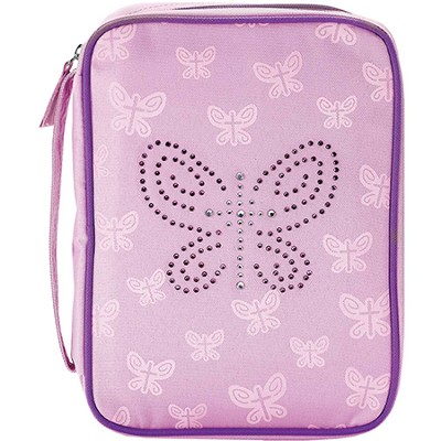 Bedazzled Butterfly Bible Cover, Pink, Large  -