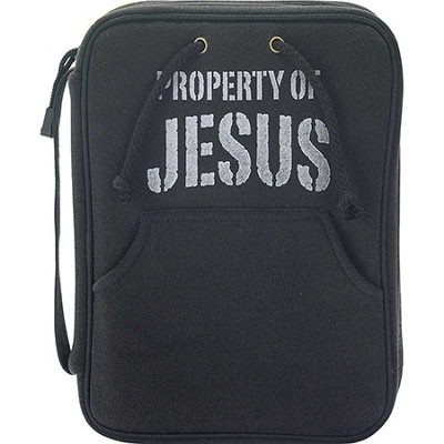 Property Of Jesus Bible Cover, Black, Medium  -