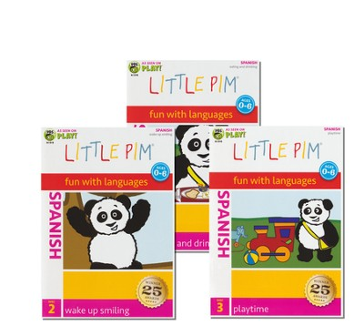 Little Pim Spanish Volume 1 DVDs 3-Pack  -     By: Julia Pimsleur