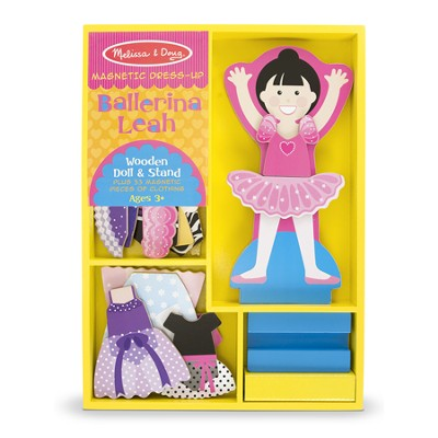 Leah Ballerina, Magnetic Dress Up Set  -