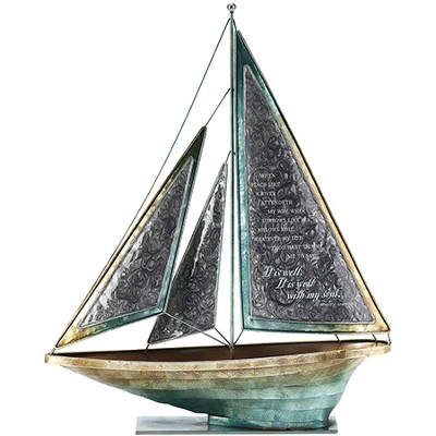When Peace Like A River Metal Sailboat, Large  -