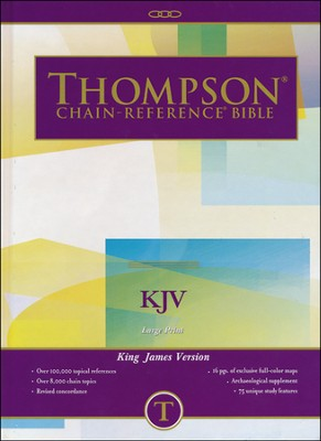 KJV Thompson Chain-Reference Bible, Large Print, Hardcover,  Thumb Indexed  -