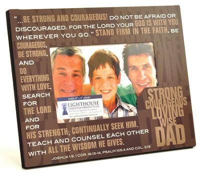 Dad--Stacked Words Photo Frame   -