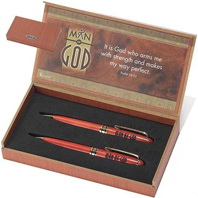 Man of God Pen and Pencil Giftset  -