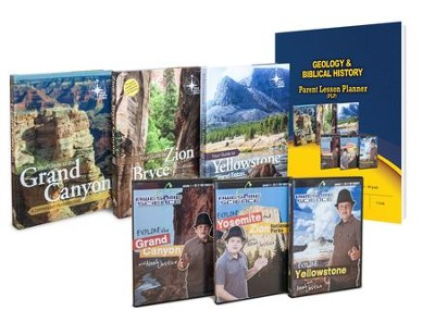 Geology & Biblical History Pack, 4 Books & 3 DVDs  -