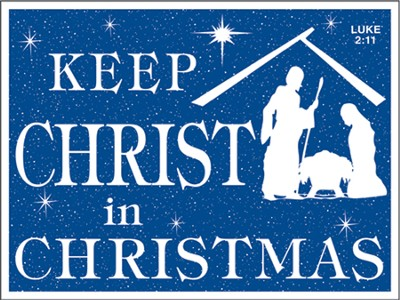 Keep Christ In Christmas Car Magnet  -