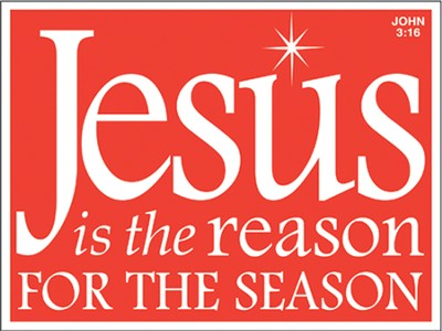 Jesus Is the Reason For the Season Car Magnet  -