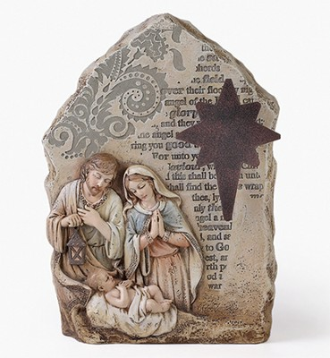 Nativity, Table Top, with Metal Star  -