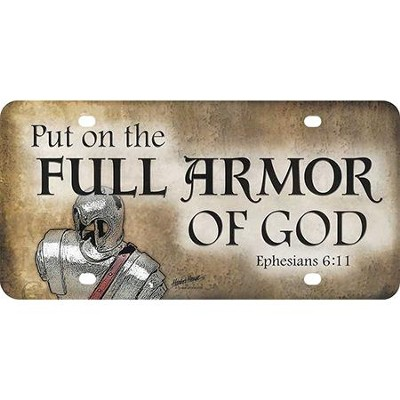 Full Armor of God License Plate  -