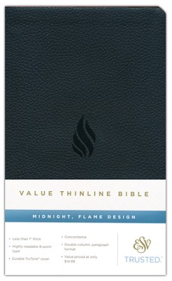 ESV Thinline Value Edition, TruTone, Midnight, Flame Design  -