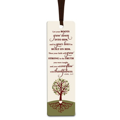 Bookmark - Tree - Let Your Roots Grow  -