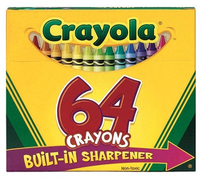 Crayons with Sharpener, Box of 64  -