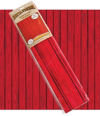 Red Barn Plastic Backdrop (4 Feet x 30 Feet)   -