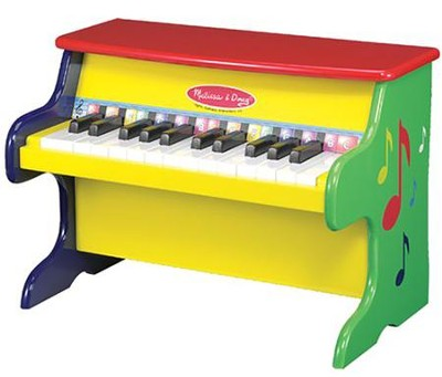 Learn-To-Play Toy Upright Piano   -     By: Melissa & Doug