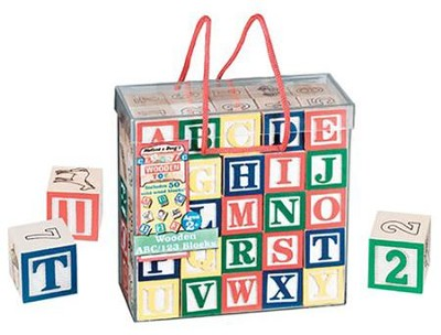 Wooden ABC/123 Blocks   -     By: Melissa & Doug