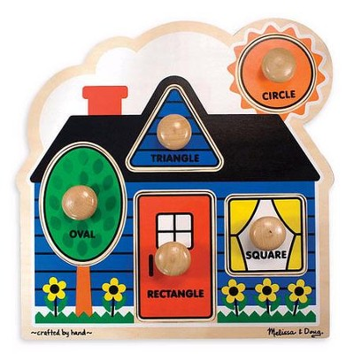 First Shapes Jumbo Knob Puzzle   -     By: Melissa & Doug