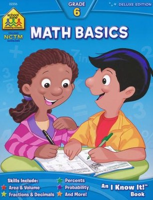 Math Basics Deluxe Edition, Grade 6 I Know It! series  -