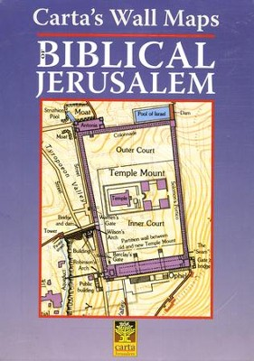 Carta's Wall Maps: Biblical Jerusalem   -