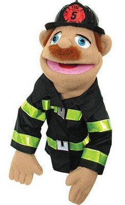 Firefighter, Hand Puppet   -     By: Melissa & Doug