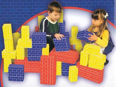 Jumbo Cardboard Blocks, 40-piece Set   -     By: Melissa & Doug