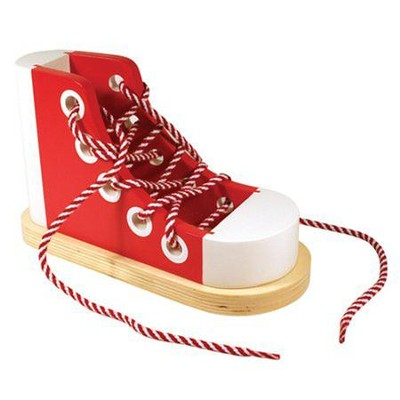 Wood Lacing Sneaker   -     By: Melissa & Doug