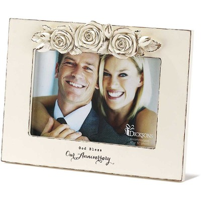 God Bless Our Anniversary, Roses Photo Frame  -