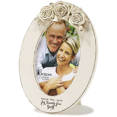 25th Anniversary Photo Frame, Oval  -
