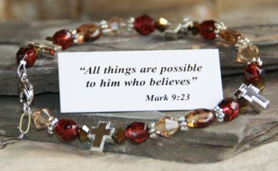 All Things Possible Bracelet, Brown  -