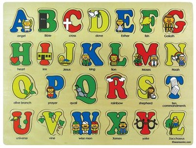 Bible ABC's Wooden Puzzle  -